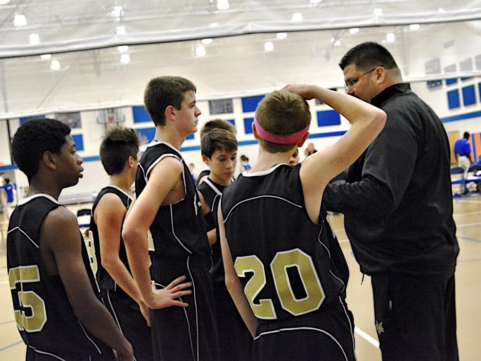 Mt. Vernon Middle Schools 8th-grade basketball coach Andrew Williams says prayer is a hot-button topic in sports right now.