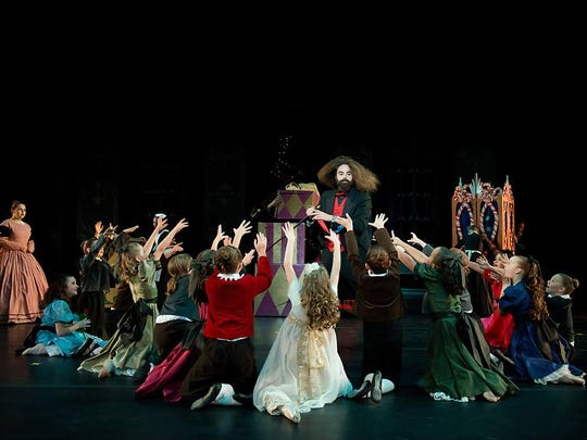 In the opening scene, the eccentric Drosselmeyer offers