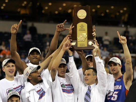 Florida celebrates winning the 2006 national championship.