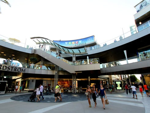 For luxury shopping in the open air, SoCal shoppers head to Santa Monica Place, just two blocks from the Pacific Ocean.