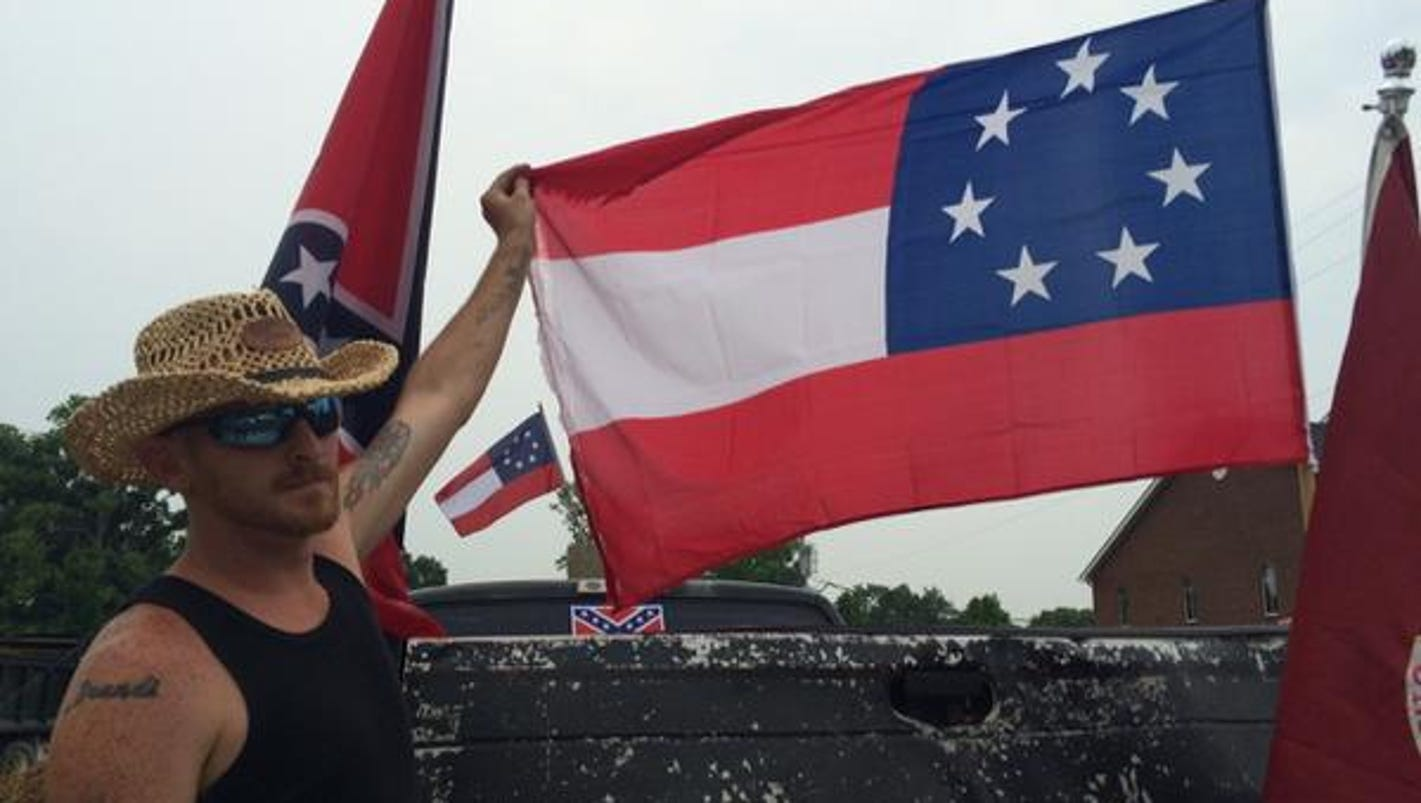 Confederate Flag Supporters Protest Across the Street from ...