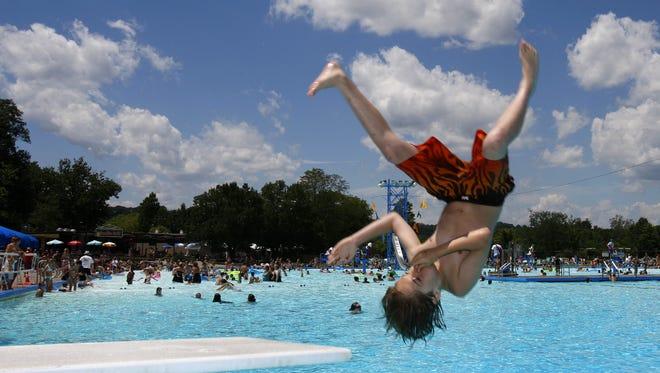 Sunlite Pool at Coney Island helped Cincinnati rank second in pools per 100,000 residents.