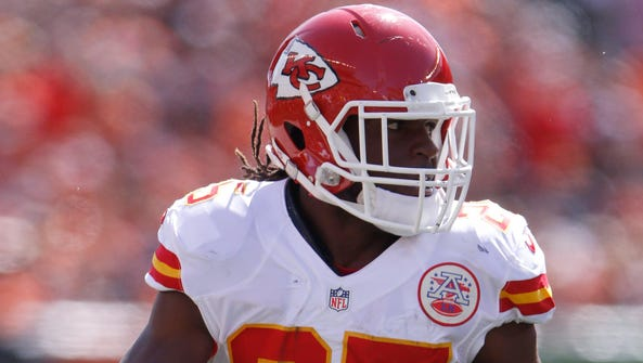 Jamaal Charles is one of three key players coming off