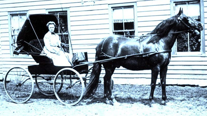 Sarah Stringer Hunt was a lively character around Eaton for many years during the 19th century.