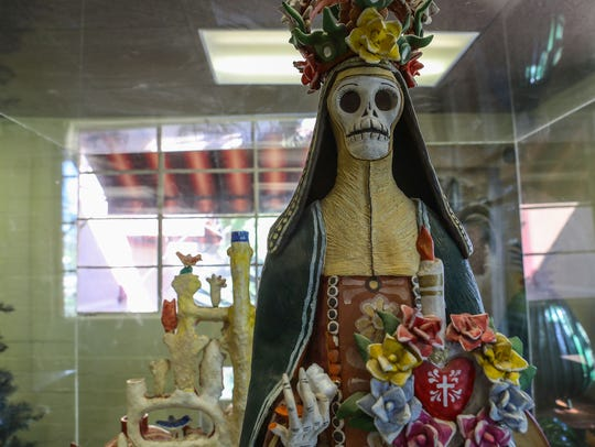 A sculpture from the Fink Collection of Mexican folk
