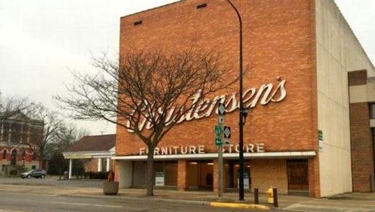The former Christensen's Home Furnishings store in downtown Charlotte, snatched up at auction last spring by a Greenville developer, is back on the market.