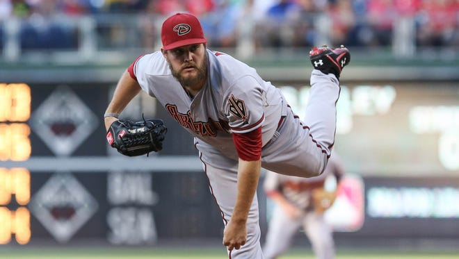 Wade Miley against the  Phillies at Citizens Bank Park.
