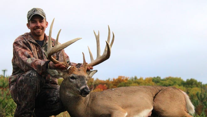 The record-setting 'Adam Hupf buck' which was taken in Dodge County on Oct. 11, 2014 during the bow season.