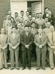 Malesus Baptist's men's Sunday school class of 1950. The man in the front row, with the darkest suit, is Arthur D. Johnson Sr. He is celebrating his 100th birthday in October.