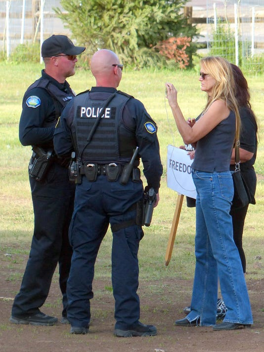 police with WHOA members