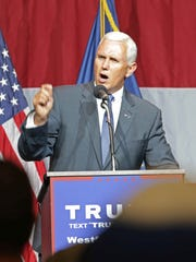 Indiana Governor Mike Pence gives a fiery endorsement