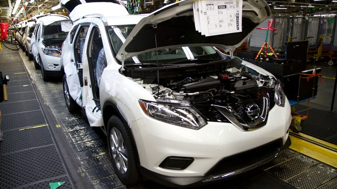 The Nissan plant in Smyrna produces the Rogue, which saw a 33 percent jump in sales in July 2016.