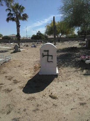The Goodyear Farms Historic Cemetery in Avondale was vandalized Thursday morning.