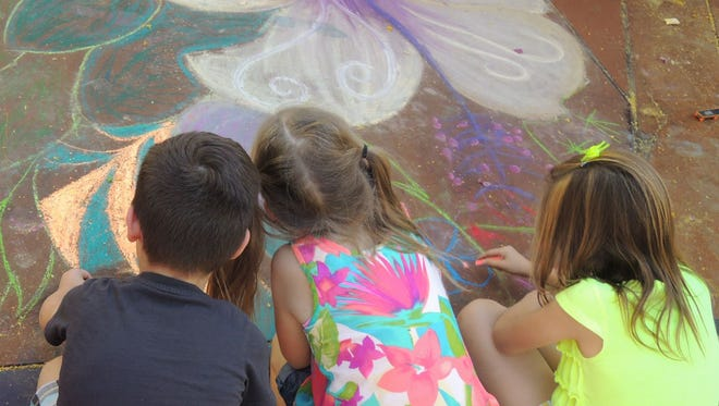 The Chalk Art Festival invites the public on Saturday, April 28 to watch artists create large murals all day at either Tempe Marketplace of Westgate Entertainment District, and to join in on the fun.