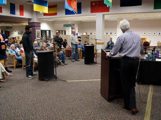 Silver City mayoral candidates Cynthia Ann Bettison, Mark S. Donnell, and Ken Ladner answered audience questions on Thursday in a town hall forum.