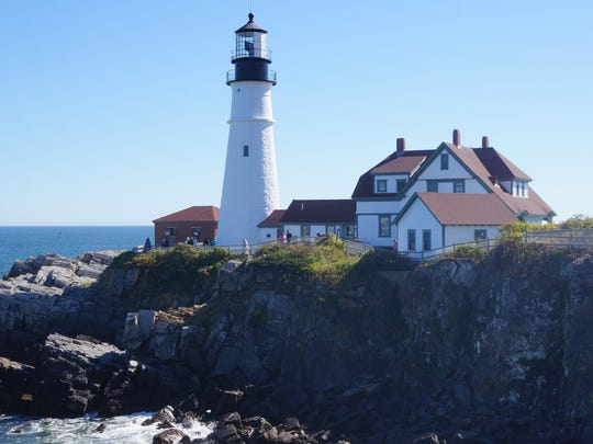 The Portland Head Light, in Fort Williams Park, was
