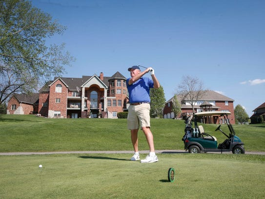 Top-ranked senior amateur golfer, Gene Elliott, of