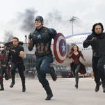 "Friends become enemies in ""Captain America: Civil War,"" which features Captain America (Chris Evans, left) and Iron Man (Robert Downey Jr.) facing off."