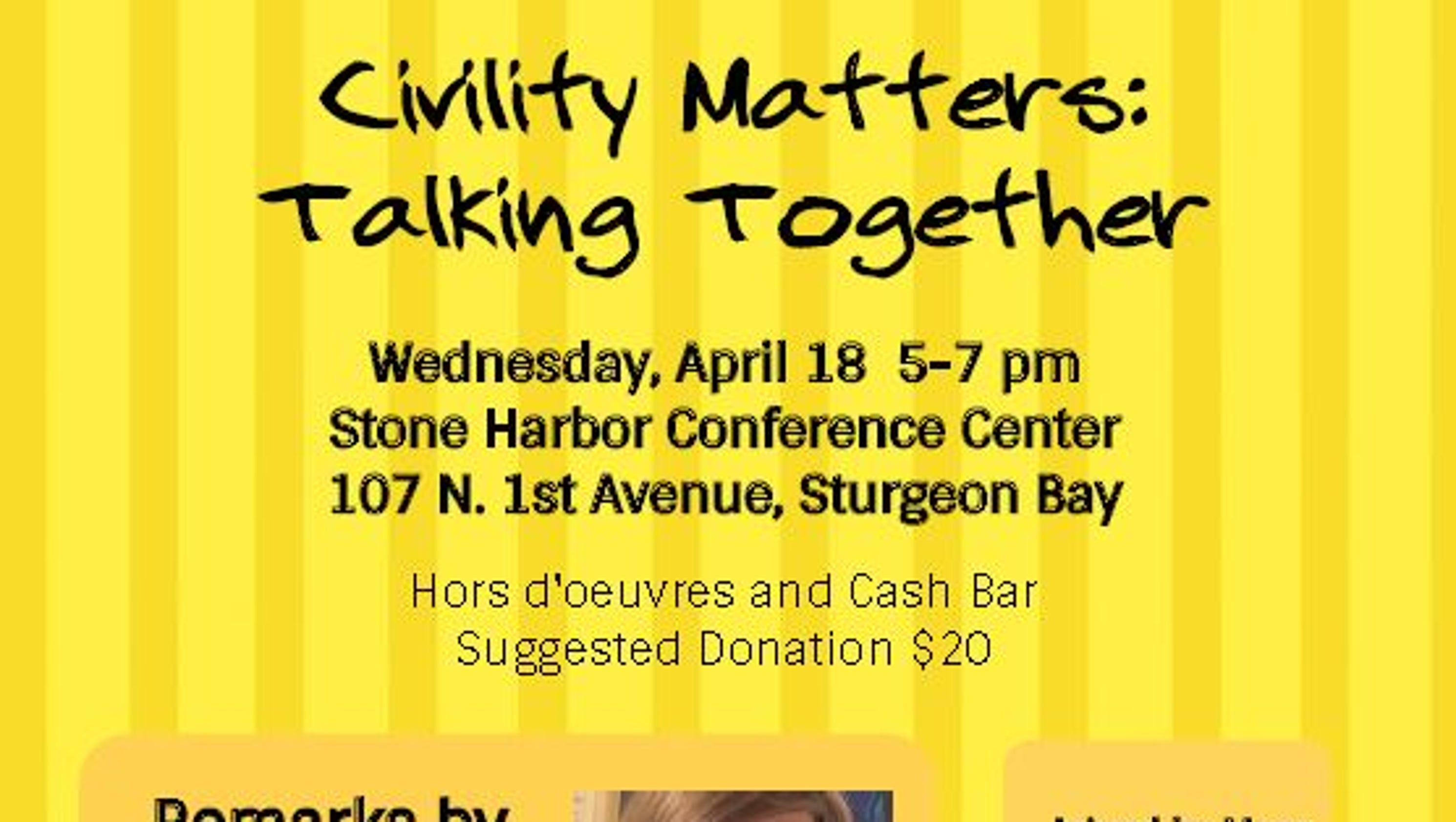 Door County Civility Project Event To Feature Nationally