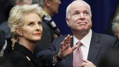 Cindy McCain tweeted Monday that she and Sen. John