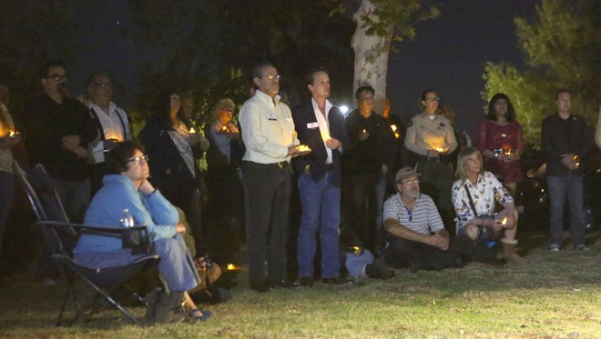 About 150 people attended the Transgender Day of Remembrance at Ruth Hardy Park in Palm Springs, Friday, November 20, 2015.