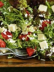 Compressed Watermelon Salad.
