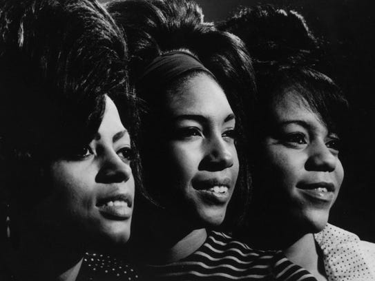 Diana Ross, Mary Wilson and Florence Ballard of the