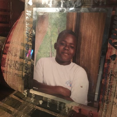 Marcus Davis survived a shooting at his grandmother's