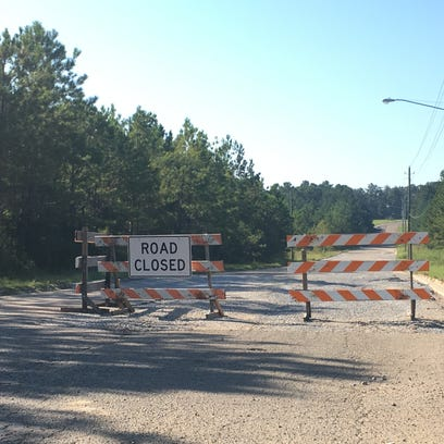A portion of Lamar Boulevard is closed while the city
