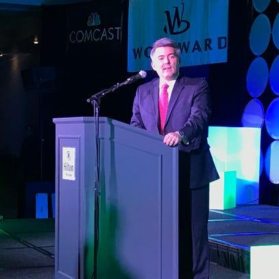 U.S Sen. Cory Gardner speaks at the Fort Collins Area