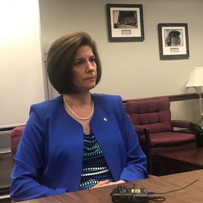 U.S. Sen. Catherine Cortez Masto, D-Nev., talks with