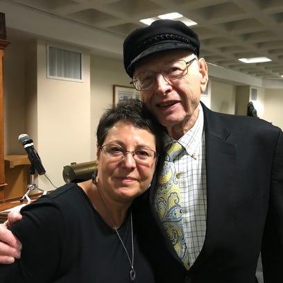 Rabbi Shelley Kniaz, left, and Leon Lissek.