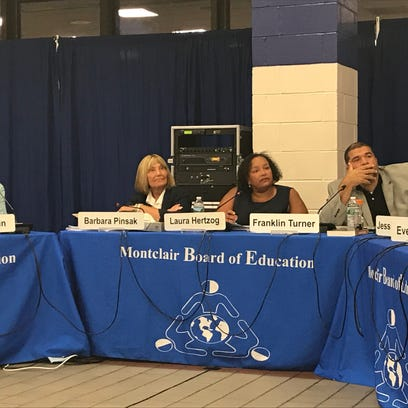 The Montclair Board of Education hears a presentation