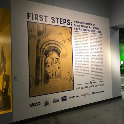 The new Wall of Giants exhibit featuring religious