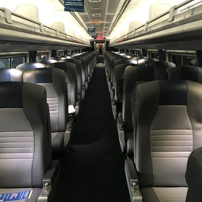 Amtrak is replacing the carpeting, seat cushions and