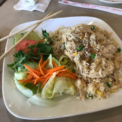 The Vietnamese fried rice with chicken is among the