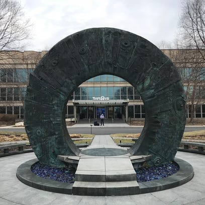 A sculpture in front of the Toys R Us headquarters