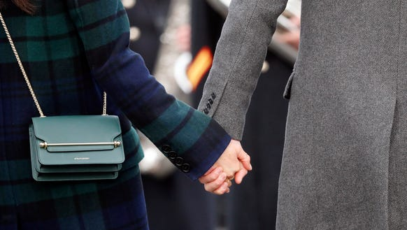 A closer look at Meghan's Strathberry cross-body bag
