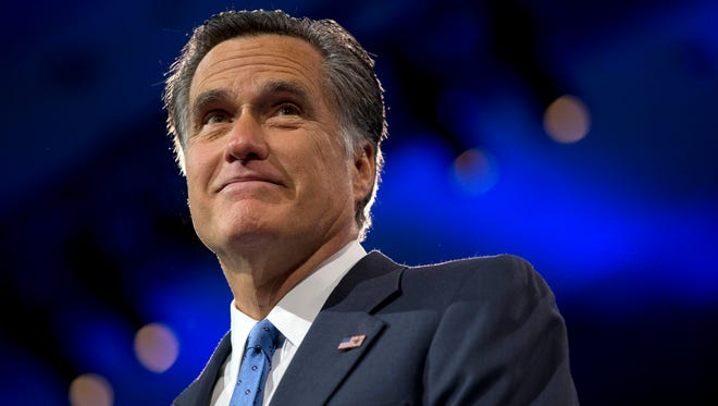 Former Massachusetts governor and 2012 Republican presidential candidate Mitt Romney