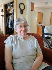 Rochelle Frank, 54, has lived in the same house in Brokaw for all of her life.