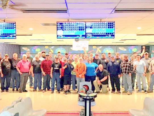 Employees turned out in force for the wellness bowling