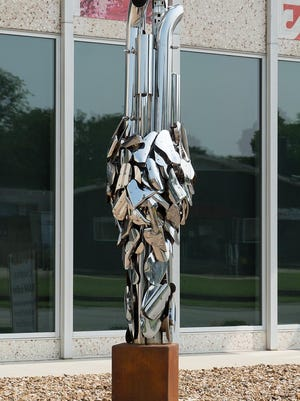 """Untitled, 2020"" can be viewed in RAM's Sparks Sculpture Garden, created by local artist Greer Farris."