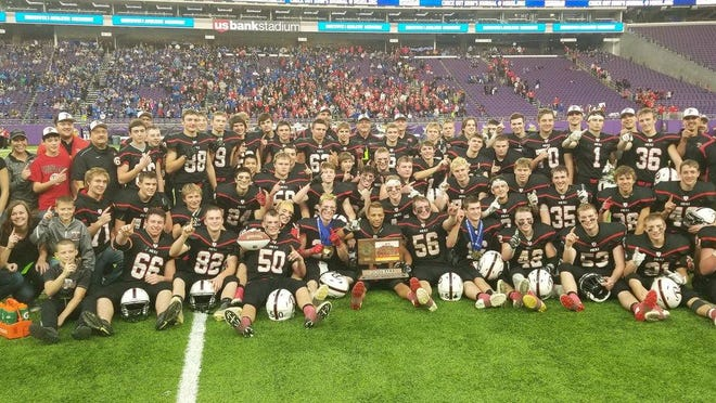 The Pierz football team won the 2017 Class 3A state title Saturday at U.S. Bank Stadium in Minneapolis. The Pioneers beat St. Croix Lutheran, 34-21 in the Prep Bowl championship.