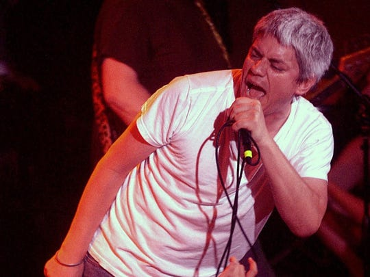 Paul Mahern is seen during a 2005 Zero Boys reunion show at the Vogue.