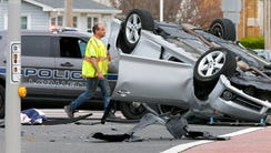 One person was medevaced from the scene of a two vehicle