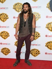 Actor Jason Momoa attends CinemaCon on March 29, 2017,