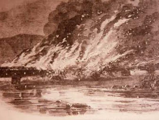 Union militia burned the bridge between Wrightsville