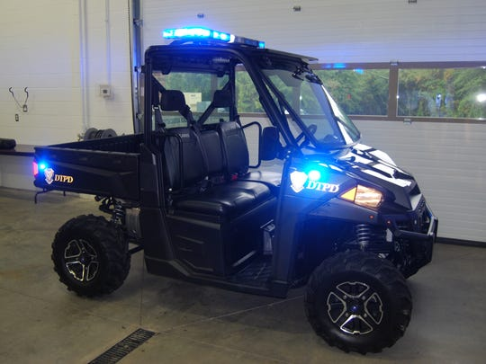 A donation from the Delhi Citizens Police Association has provided Delhi Township Police Department with funding to buy a new Polaris Ranger. Sept. 19, 2017