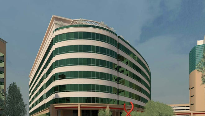 Rendering of St. Jude Children's Research Hospital's planned $412 million advanced research center.