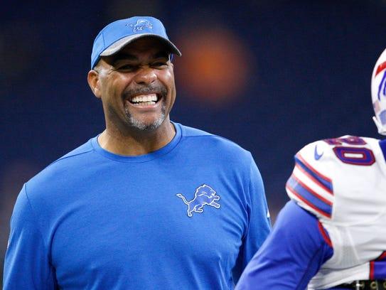 Detroit Lions defensive coordinator Teryl Austin could